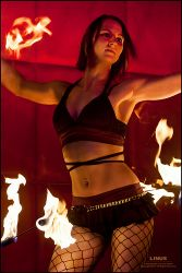 Sexy Burlesque Hip Belt Palm Torches Fire Belly Dance Fire Performer Boston MA