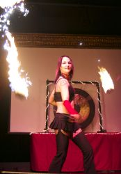 Stage Show Warwick RI Fire Poi Dancer Fire Performer 1