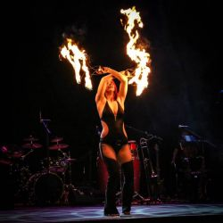 Twin River Casino RI Fire Fans Dancer Fire Performer New England Tequila Rum Festival
