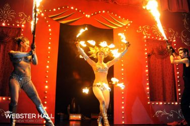 Webster Hall NYE New Year's Eve 2012 Fire Performance Fire Gypsy Fire Hip Belt Palm Torches Fire Swords