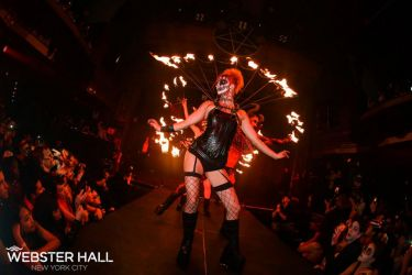 Webster Hell Halloween Fire Performance Virgin Sacrifice Show Hall Fire Collar Fans Sasha Fire Gypsy Worcester MA