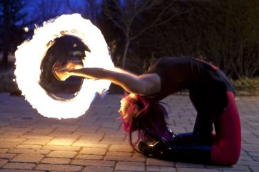 Worcester Fire Dancer Circus Fire Poi Performer MA Fire Gypsy 1