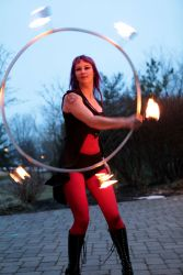 Worcester Fire Performer Circus Fire Hula Hoop Dancer 1
