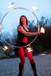 Worcester Fire Performer Circus Fire Hula Hoop Dancer 1