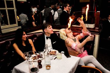 Dinner Party Fire Eater Fine Dining Fire Eating Show Fire Gypsy Sasha