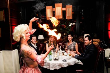 Fine Dining Restaurant Fire Eating Dinner Show Fire Eating Performer Fire Gypsy