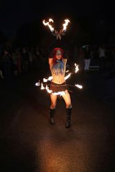 Fire Belly Dance Hip Belt and Palm Torches Dancer Massachusetts