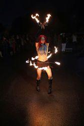 Fire Belly Dance Hip Belt and Palm Torches Dancer Massachusetts