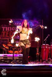 Fire Belly Dancer Circus Performer Massachusetts Hip Belt Palm Torches