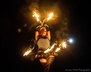 Fire Belly Dancer Circus Performer