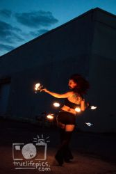 Fire Belly Dancer Hip Belt Palm Torches Performer Entertainer Boston