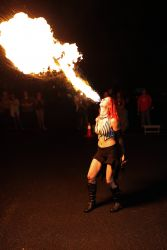 Fire Breather Massachusetts Event Entertainment Fire Breathing Girl Woman Female