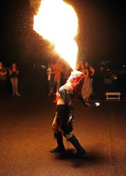 Fire Breathing Girl Fire Breather Massachusetts Circus Performer