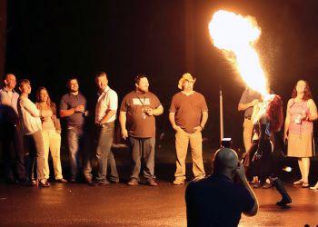 Fire Breathing Woman Fire Performer Massachusetts Event Entertainment