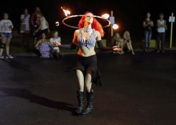 Fire Circus Hula Hoop Dancer Massachusetts Performer