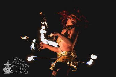 Fire Hip Belt Belly Dancer Palm Torches Performer