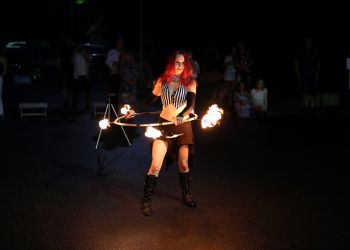 Fire Hula Hoop Performer Artist Circus Act Massachusetts Entertainer