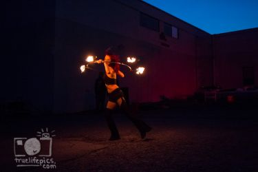 Fire Hula Hoop Performer Massachusetts Fire Show Entertainment