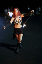 Fire Poi Performer Massachusetts Circus Artist Dancer