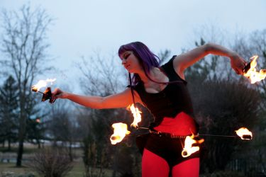Halloween Circus Hip Belt Fire Belly Dancer