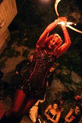 Halloween Fire Hoop Dancer Devil Satan Performer