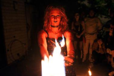 Halloween Fire Show Entertainment Devil Angel Fire Dancer Performer Massachusetts
