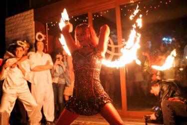 Halloween Fire Show Party Entertainment Fire Fans Devil Dancer Fire Performer Massachusetts Rhode Island Connecticut Boston