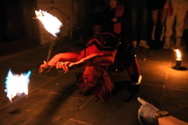 Halloween Fire Show Performer Eater Breather Entertainment Massachusetts Devil Dancer