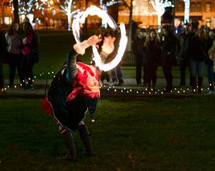 Holiday Christmas Event Elf Fire Performer Tree Lighting Ceremony Winter Fest Fire Dancer Fire Eater Fire Breather Massachusetts Connecticut Rhode Island