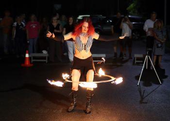 Hula Hoop Fire Performer Circus Massachusetts Event Entertainment