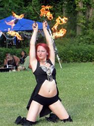 Brookline MA Fire Fans Dancer Fire Performer Circus