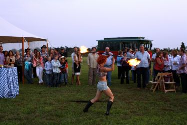 Country Cowgirl Fire Show Performance Fire Performer Fire Staff Connecticut