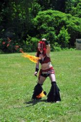 Dancer Fire Poi Performer Ren Faire