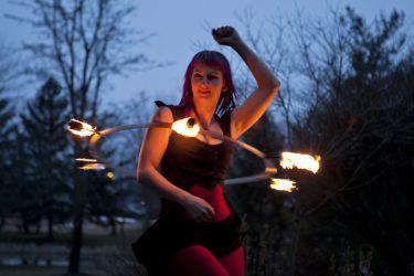 Fire Circus Performer Hula Hoop Dancer Massachusetts