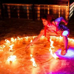 Fire Hula Hoop Dancer Fire Performer Ring Of Fire MA CT NH NY RI VT ME