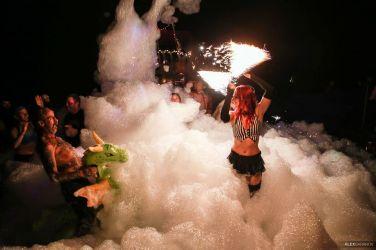 Foam Party Fire Performer Massachusetts Circus Artist Fire Dancer