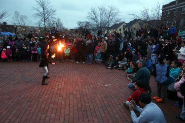 Lowell Point of Light Lantern Celebration Fire Show Fire Dancer Massachusetts