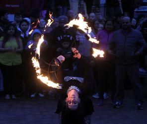 Lowell Point of Light Lantern Celebration Fire Show Fire Performer Massachusetts