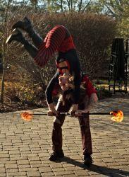 New England Halloween Fire Show Staff Flip Fire Performer Fire Dancer Massachusetts