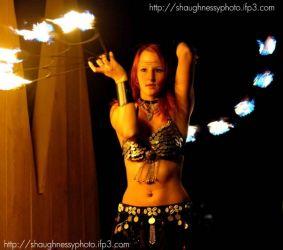 Renaissance Faire Fire Fans Performer