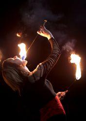 Salem Massachusetts Halloween Fire Eater Performer