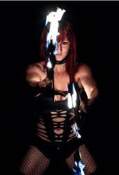 Sexy Tribal Goth Fire Fans Dancer Fire Performer Massachusetts Fire Gypsy