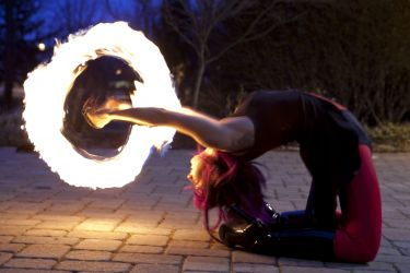 Worcester Fire Dancer Circus Fire Poi Performer MA Fire Gypsy