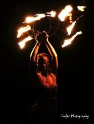 w Fire Fans Dancer